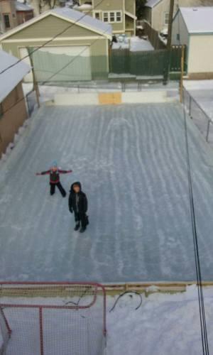 My backyard rink.