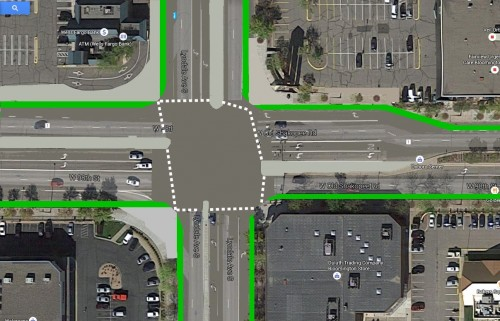 Reconfigures 98th St. and Lyndale Ave. intersection