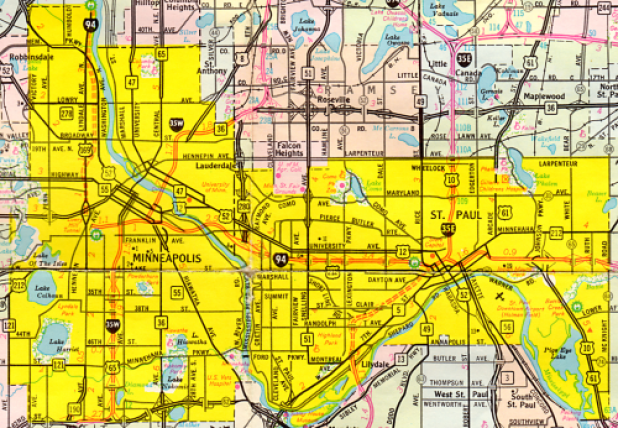 Twin Cities Map, 1978