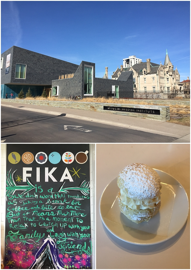 A walk to FIKA at the American Swedish Institute for a semla bun has become a tradition.