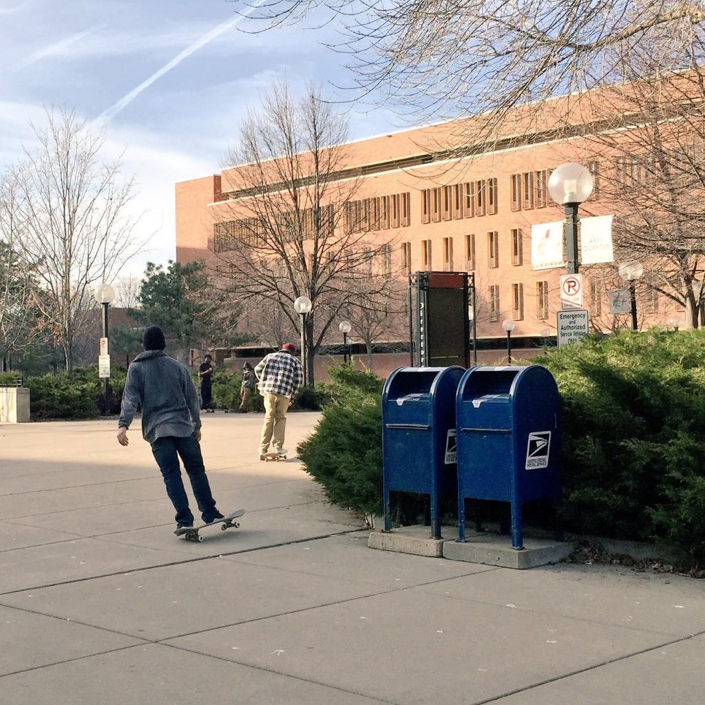 Skateboarders at the University of Minnesota