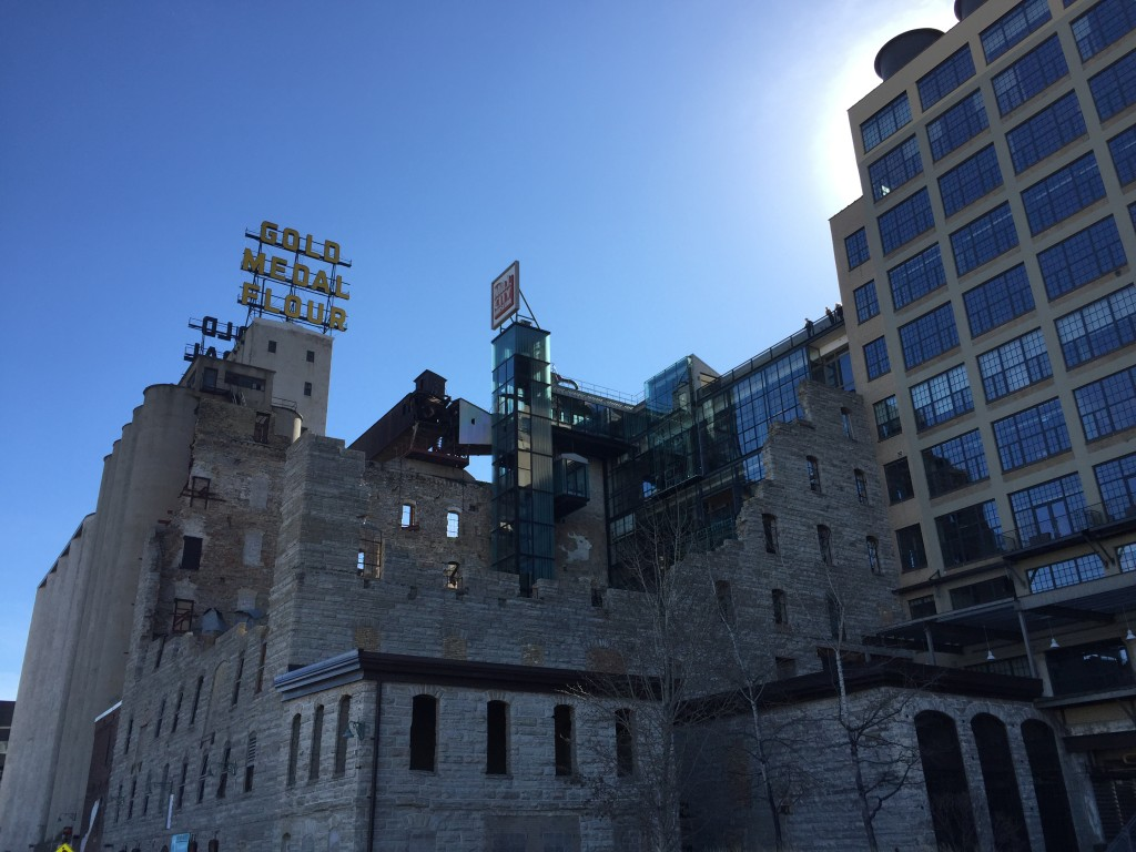 Mill City Museum and Gold Medal Flour sign