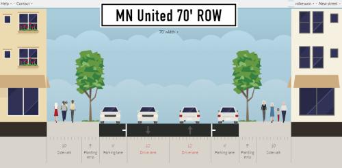 MN United 70' ROW