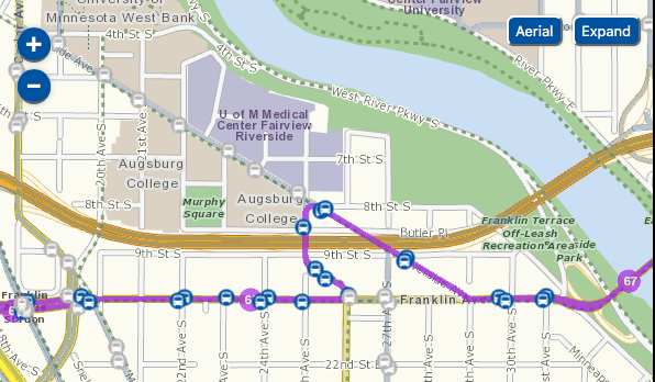 Metro Transit Route 67, selection