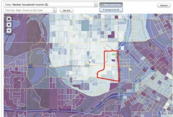 Median Household Income map. Via City-data