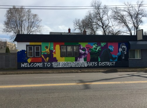 Welcome to Northeast Arts District mural