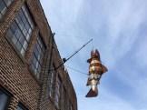 Fish sculpture outside Spark Letterpress, 1300 Quincy Street NE, Minneapolis