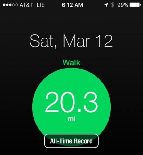 Moves App display