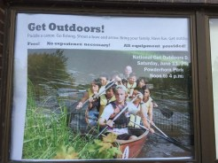 Get Outdoors poster at Powderhorn Park
