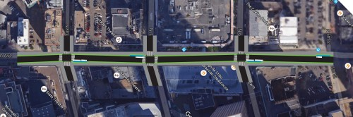 Aerial photo Hennepin Avenue Reconstruct: Chicane