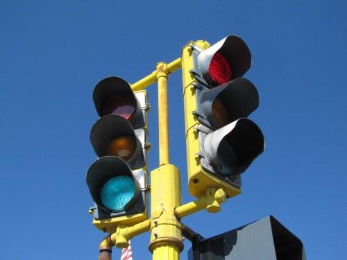 photo of traffic signal lights