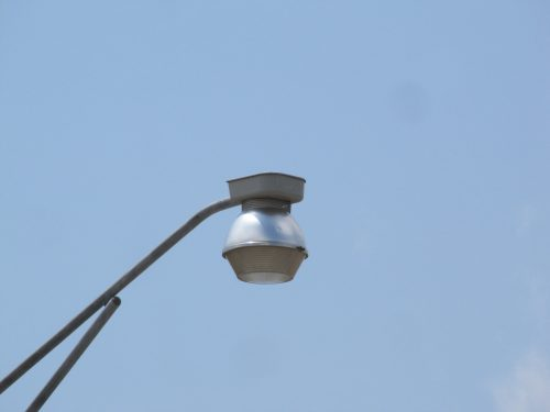 There's still a couple of cone shaped lights left. Being mounted in the center, the light thrown backwards wasn't wasted.
