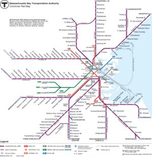 MBTA Subway and Commuter Rail Map