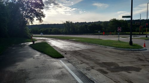 The new approach to Shepard Road (photo - Dana DeMaster)