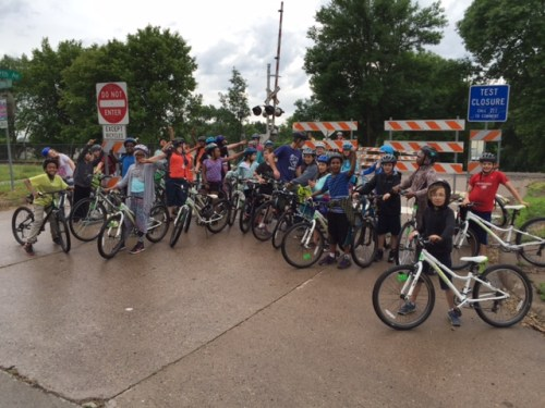 Seward students at the 29th Avenue closure