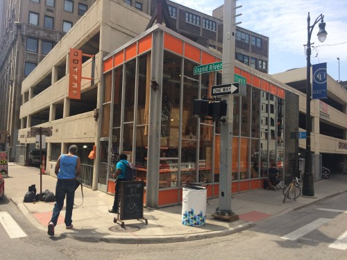 Corner Coffee Shop Almost Saves Fugly Parking Ramp