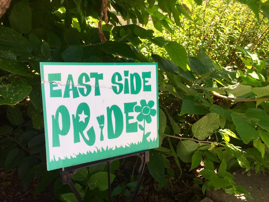 East Side Pride lawn sign