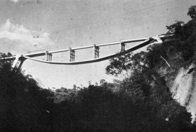 inverted suspension bridge