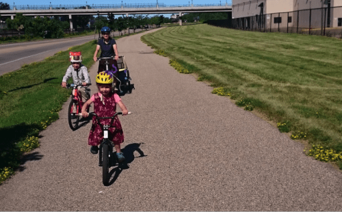 Riding the Bruce Vento trail