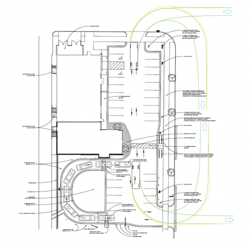 Proposed traffic flow
