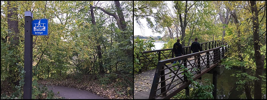 Foot bridge near Plymouth Avenue and West River Parkway