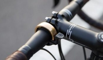 Above, the Oi bell by KNOG. The Oi is 15mm wide and weighs 18 grams for the small and 25 grams for the large.