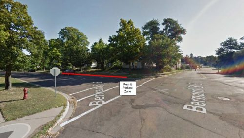 This 105-foot section of Livingston Avenue will become West St. Paul's first permit-only parking zone.