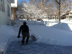 Having an ice rink isn't always fun.