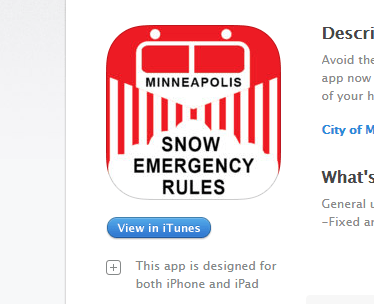 snow emergency app
