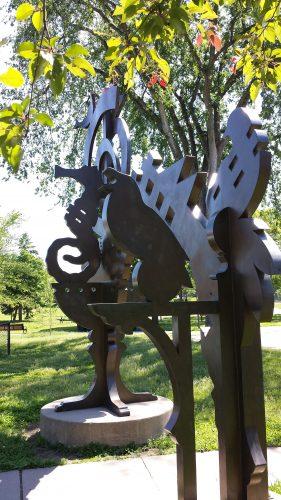 Sculptural Gateway at Armatage Park