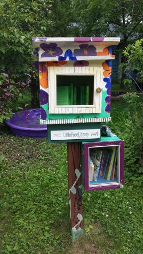 A Little Free Library and an Even Littler, Equally Free Library (5900 Block of Russell Avenue South)