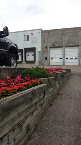 Even Loading Docks and Employee Parking Rate Flowers at Wagner's