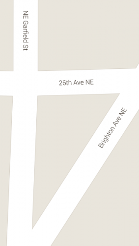 Google's Idea of How Brighton Ave Intersects Garfield St and 26 Ave