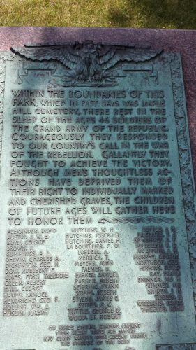 """Collective Marker for """"46 Solders of the Grand Army of the Republic"""""""