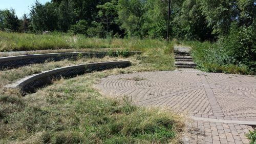 Amphitheater in Ox Cart Wheel Pattern