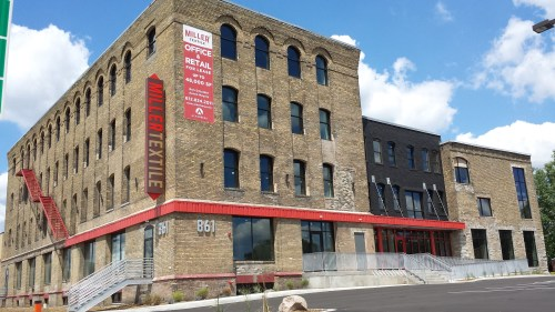 The Miller Textile Building at 861 East Hennepin Avenue