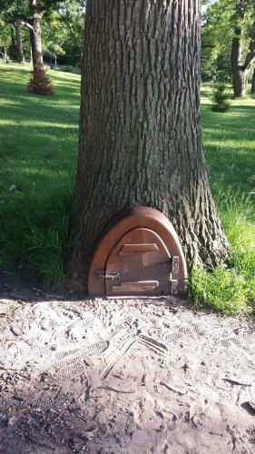 A Well-Visited Elf Door in Deming Heights Park