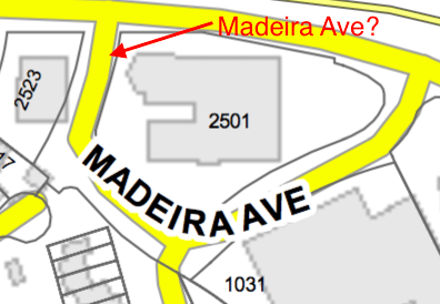 The City's Version: Apparently Madeira Ave