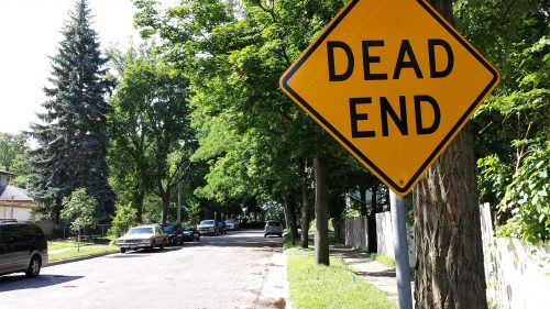 Dead End—Literally