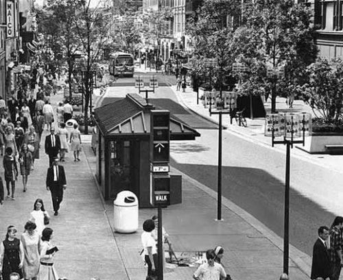 Nicollet Mall in Another Era (courtesy MNHS)