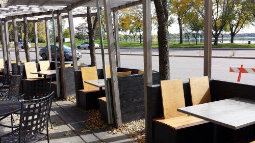 Urban Eatery Seating Outside Calhoun Beach Club, 2730 W Lake St