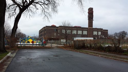 Sabathani Community Center, View from E. 37th St. at Clinton Ave. S.