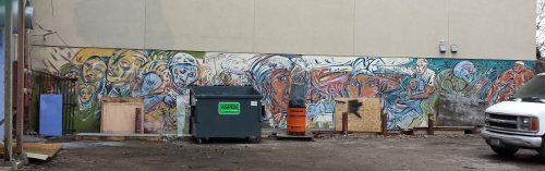 Mural on Wet Side of 207 E. Lake St.