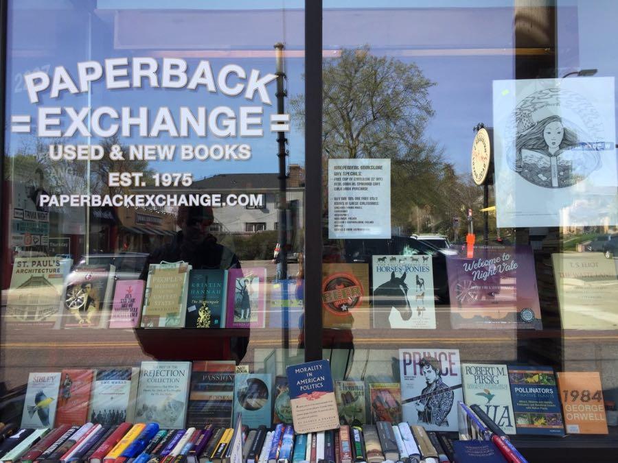 Paperback Exchange window display