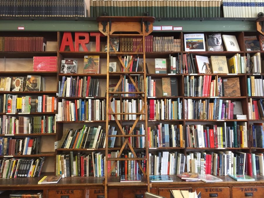 Shelves of books at Magers & Quinn
