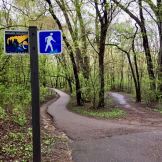Grand Rounds trail by Minnehaha Creek