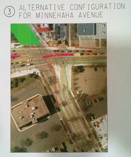 Rejected alternative Minnehaha Ave alignment