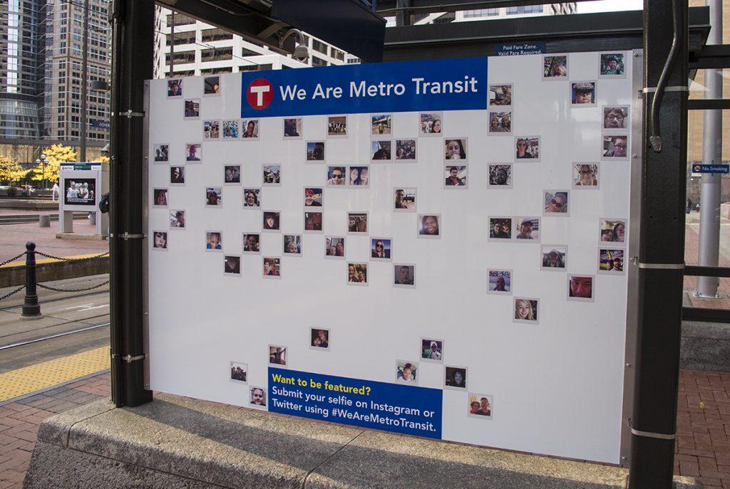 Selfies of Metro Transit Riders