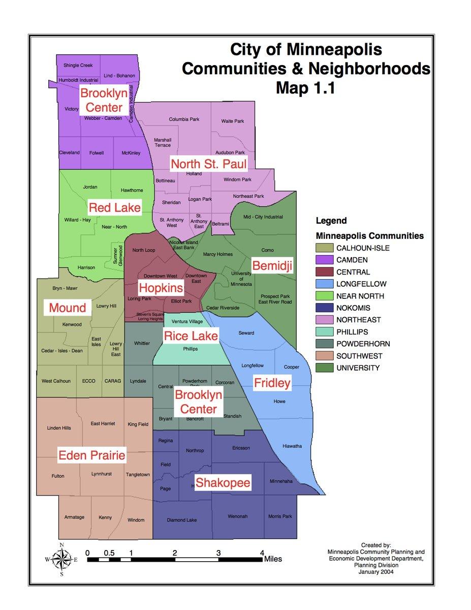 Map Monday: Minneapolis / Saint Paul Neighborhood #cityburb ... on