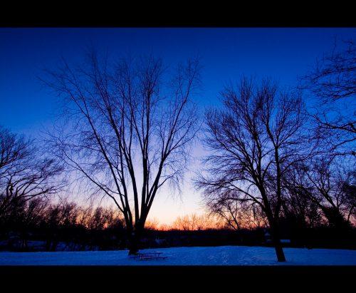 Minnesota Sunset, Winter